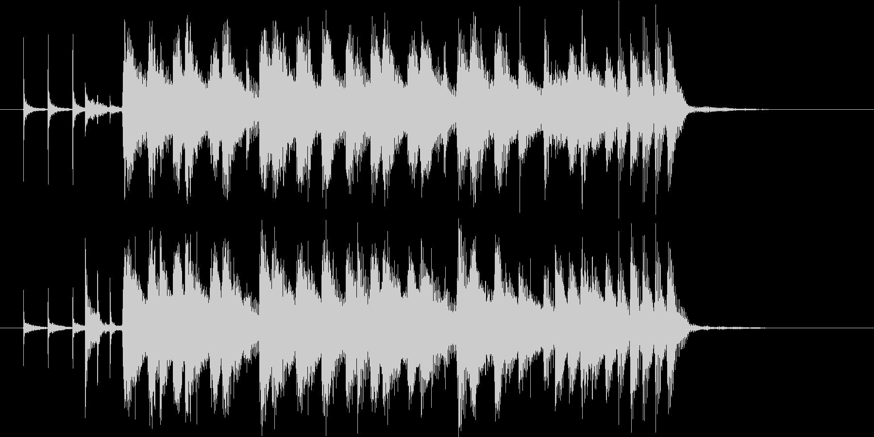 悠長で軽快なシンセポップジングルの未再生の波形