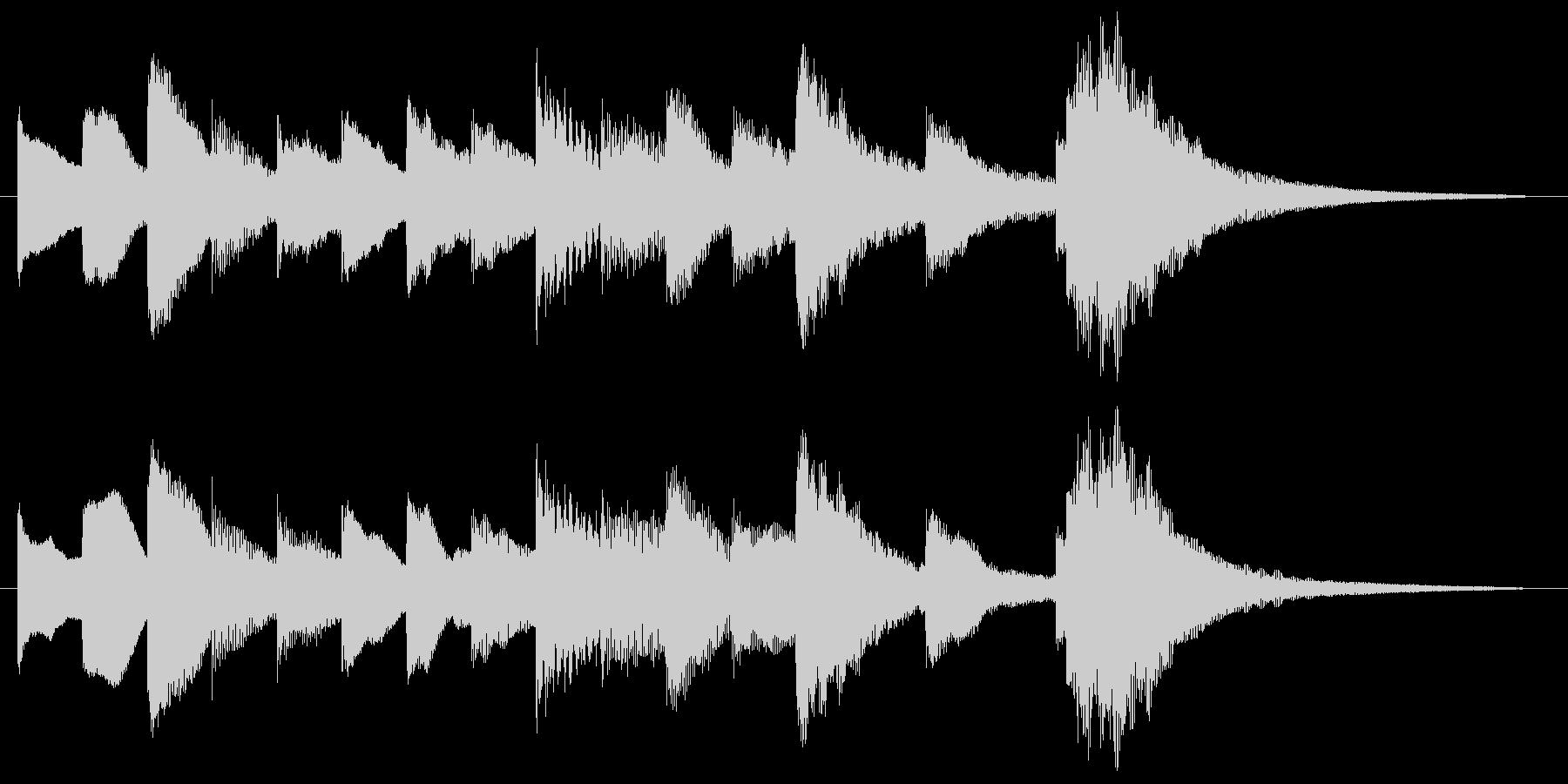 オルゴールによるかわいいサウンドロゴの未再生の波形