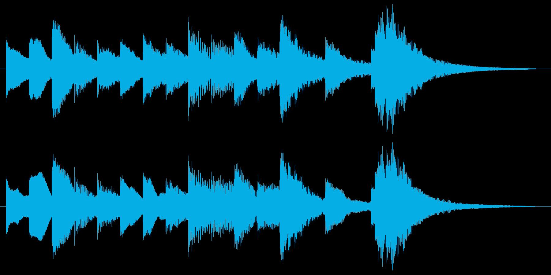 オルゴールによるかわいいサウンドロゴの再生済みの波形