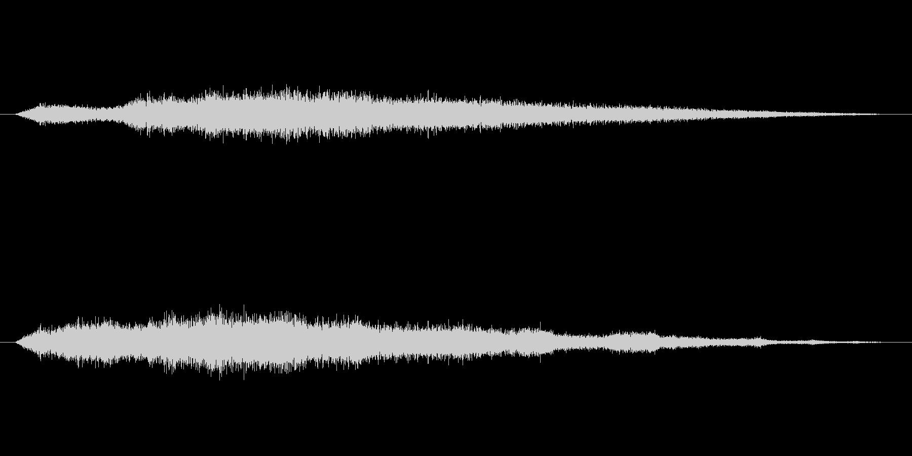 風の音の未再生の波形