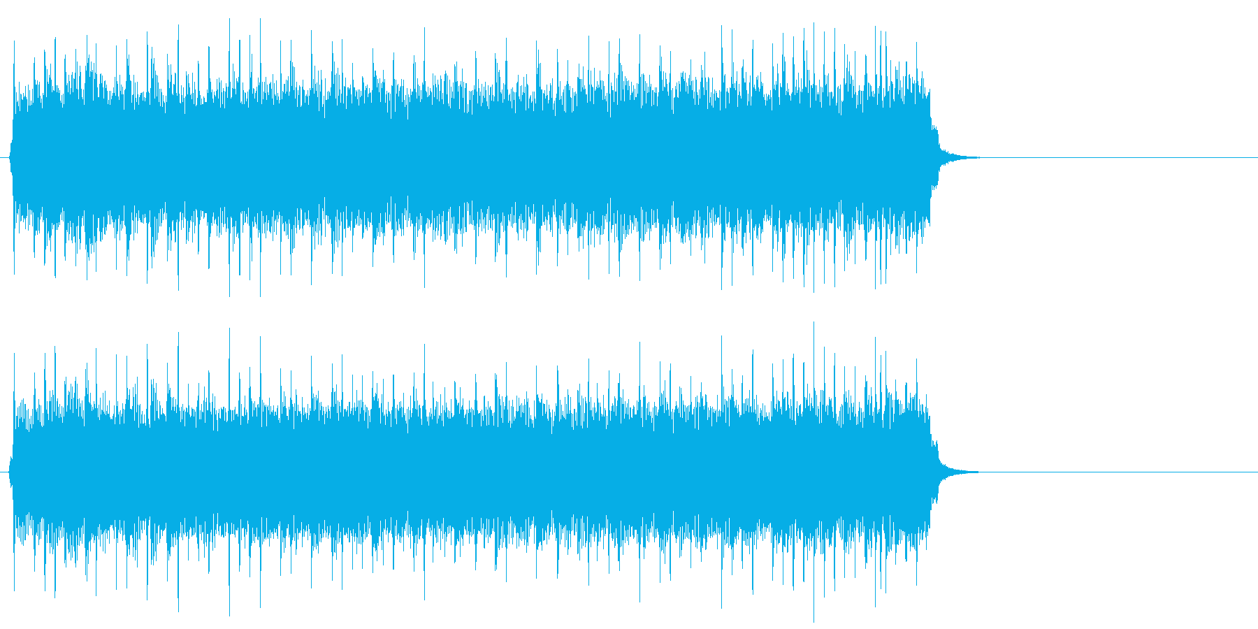 爽快に疾走するポップ(サビ)の再生済みの波形