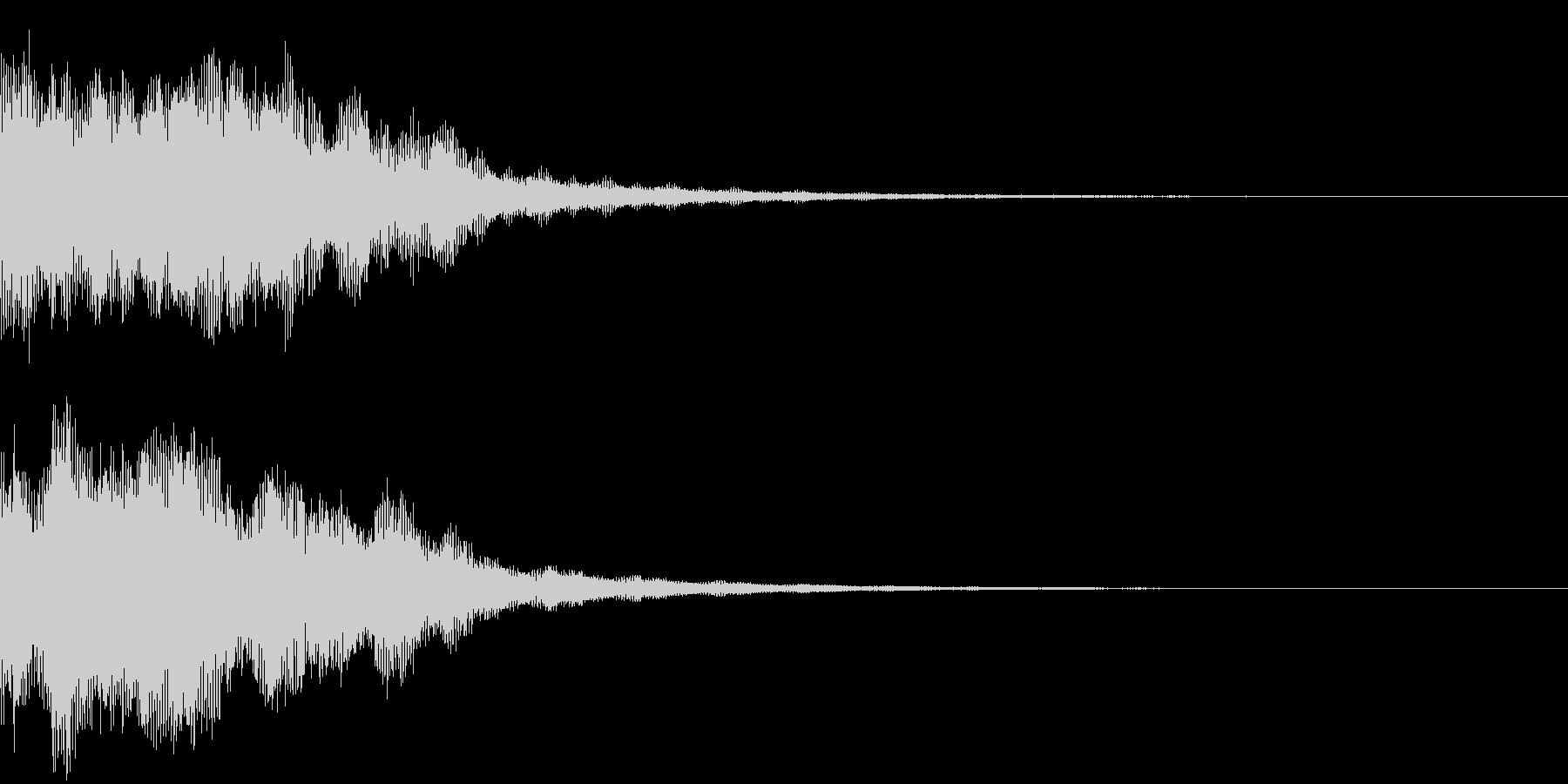 恐怖音11の未再生の波形
