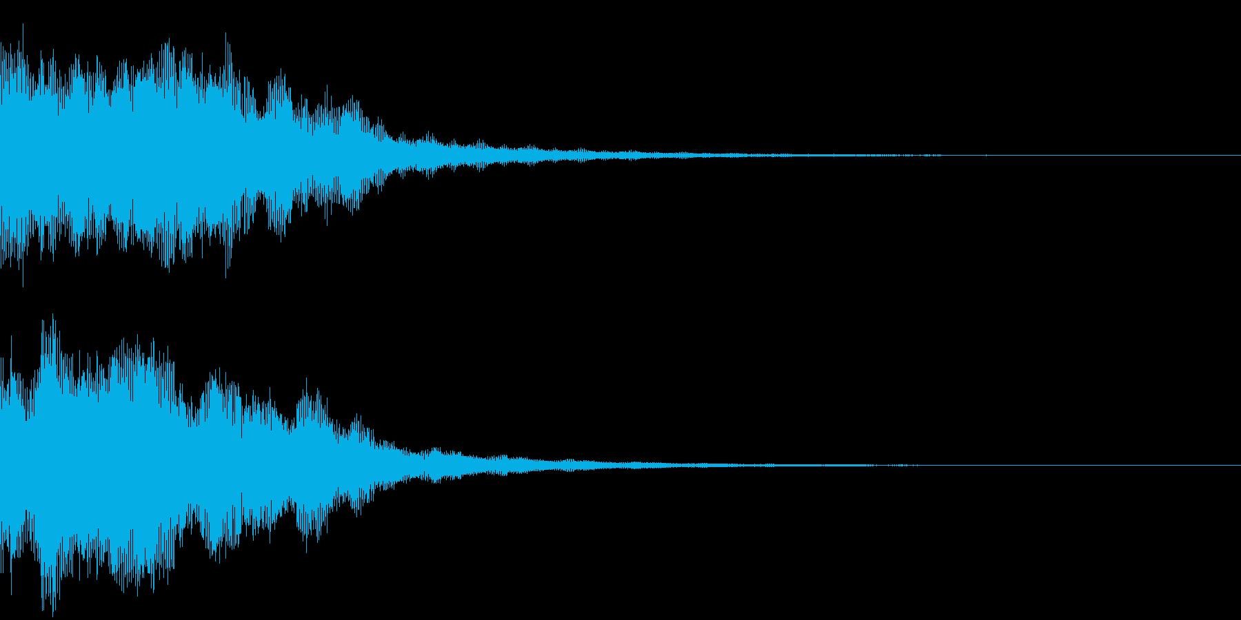 恐怖音11の再生済みの波形