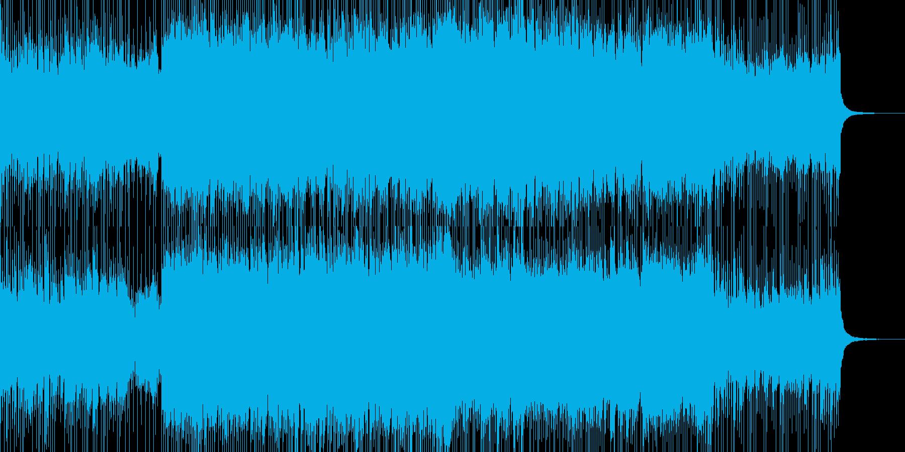 重低音のメタル、ギターロックの再生済みの波形