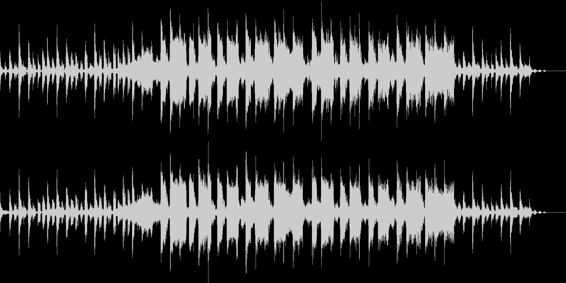 ハウステイストのBGMの未再生の波形