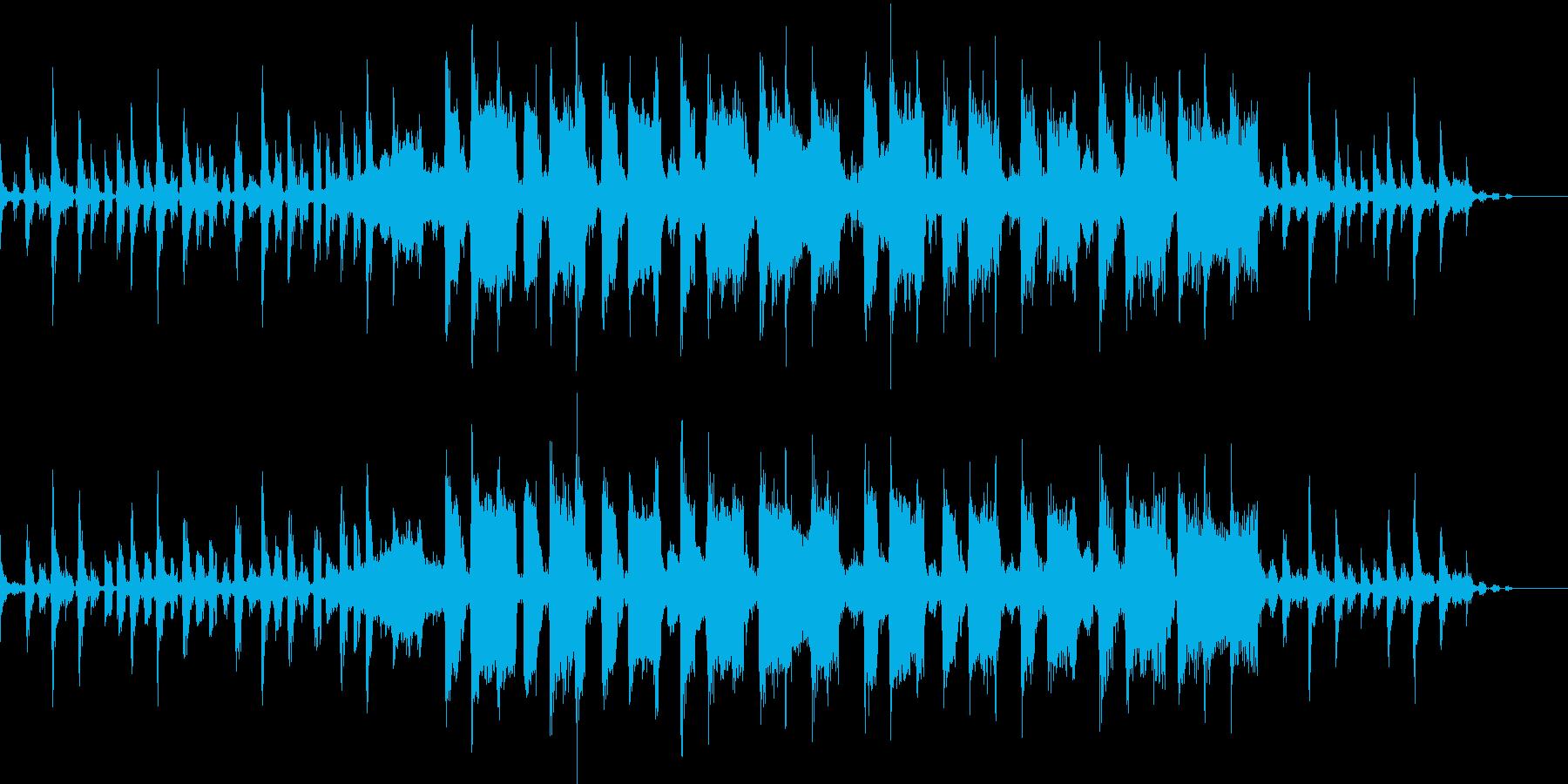 ハウステイストのBGMの再生済みの波形
