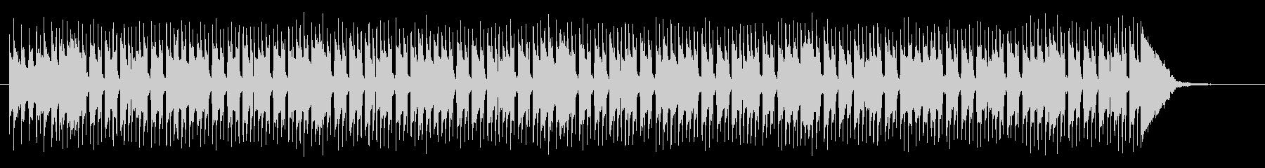 軽快なドラムテンポの明るいミュージックの未再生の波形