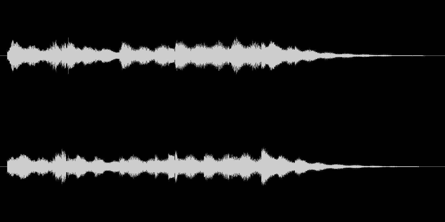 可愛らしい小休止的なジングルの未再生の波形