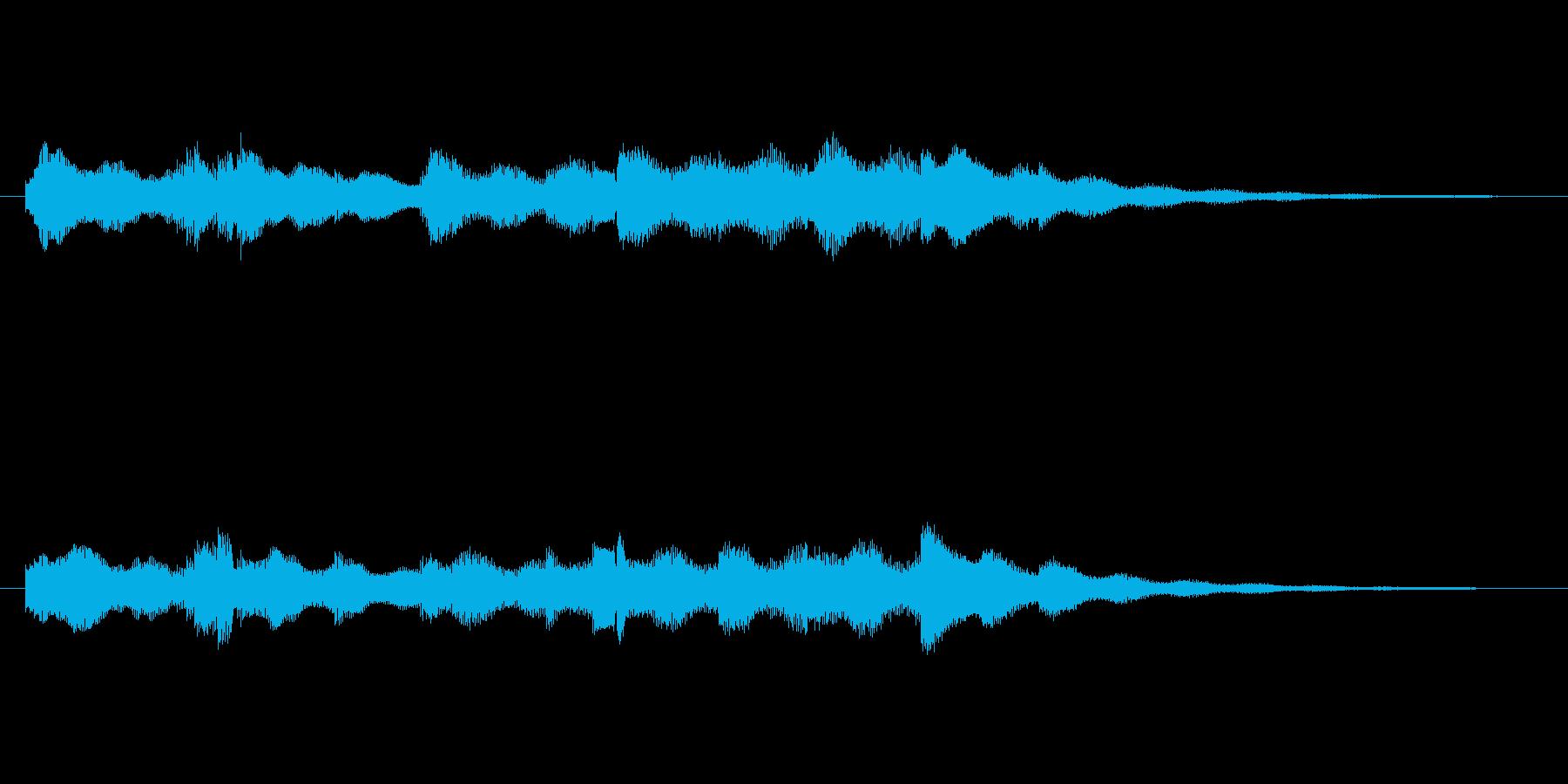 可愛らしい小休止的なジングルの再生済みの波形