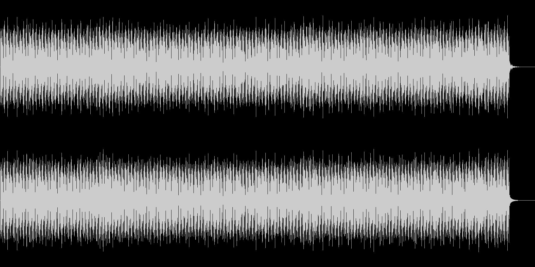 テクノ調の待機BGMの未再生の波形