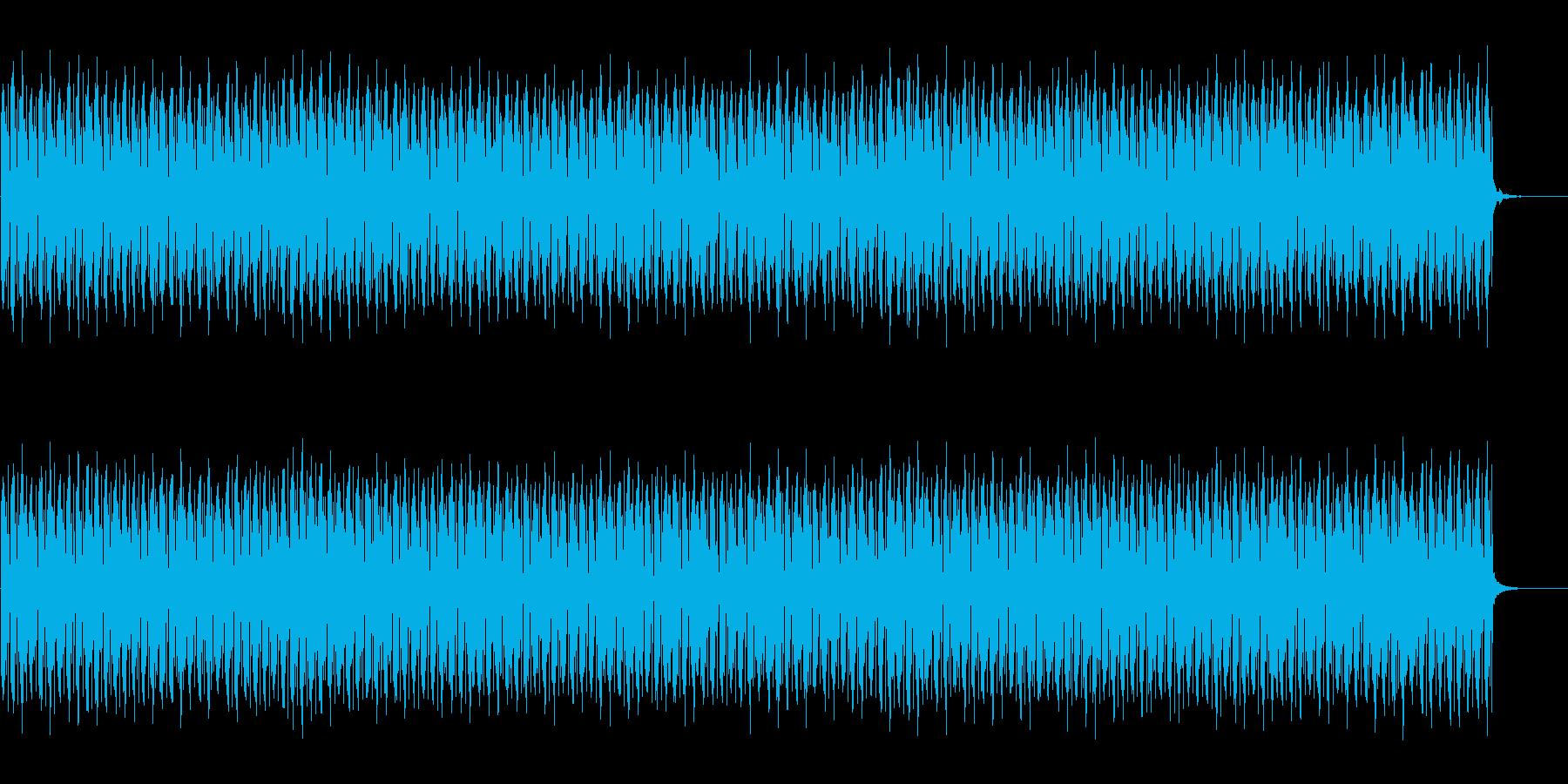 テクノ調の待機BGMの再生済みの波形