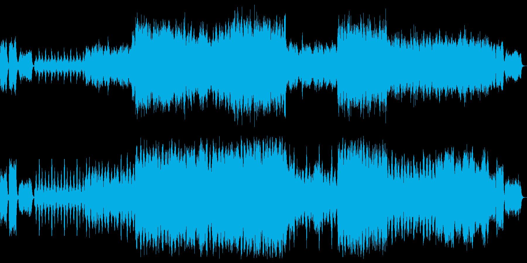落ち着いた暗いワルツの再生済みの波形