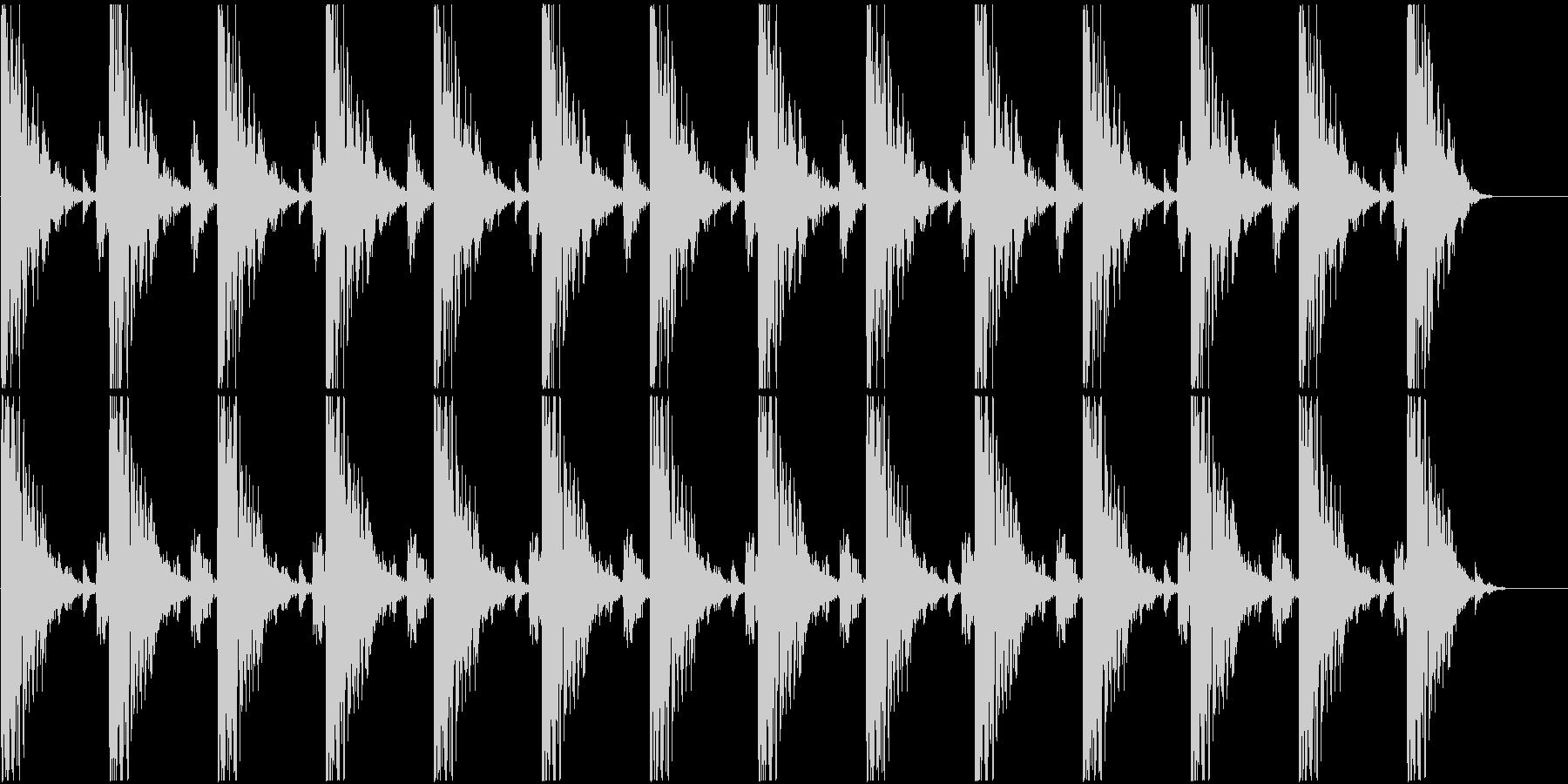 ハンマーで打つリズムの未再生の波形