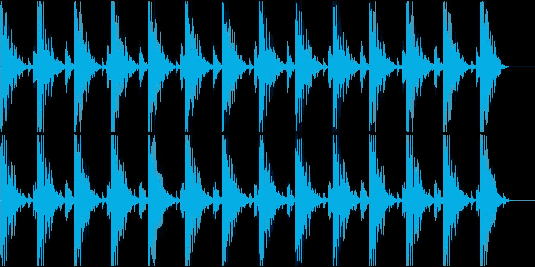 ハンマーで打つリズムの再生済みの波形