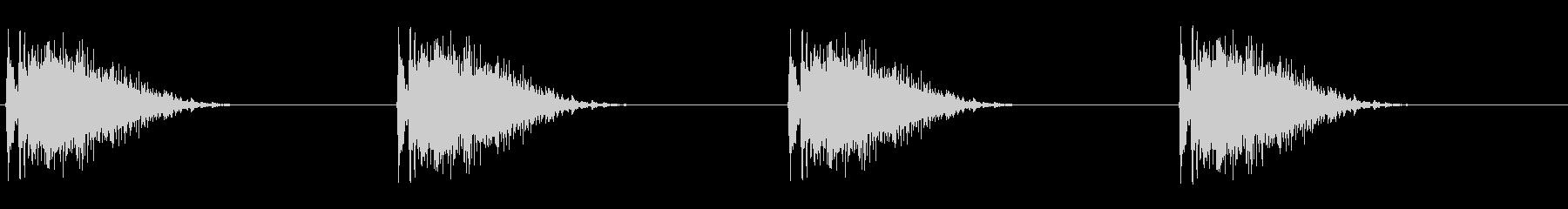 ギーッ…ギーッ…(床がきしむ音、つり橋)の未再生の波形