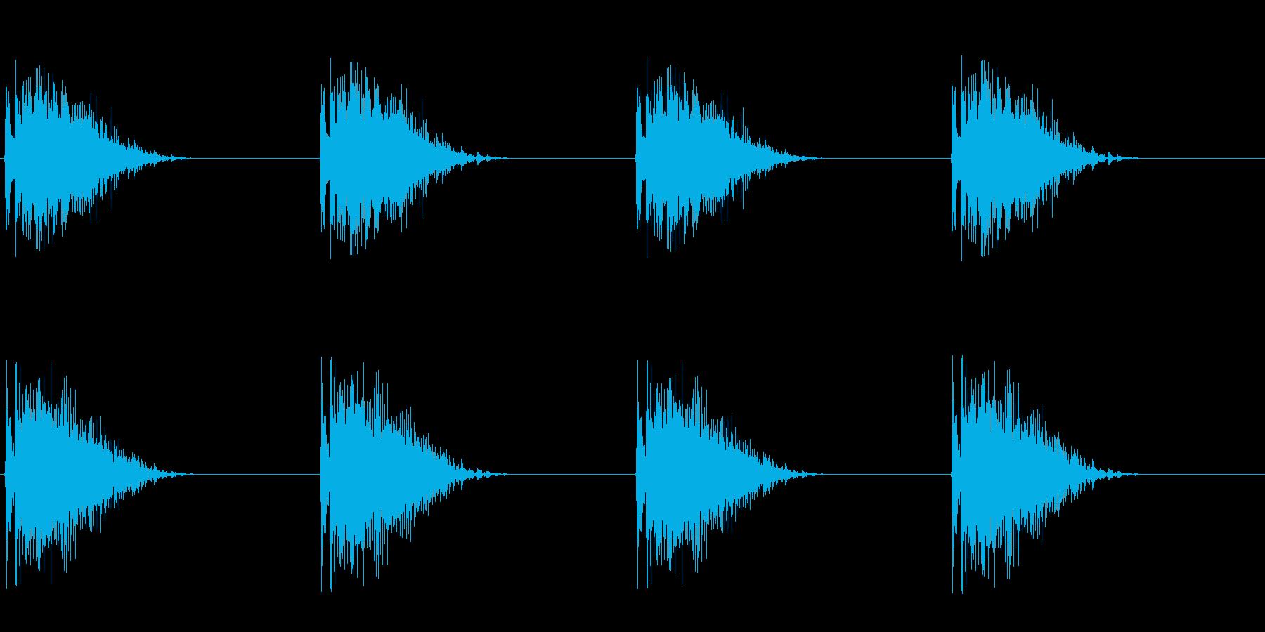ギーッ…ギーッ…(床がきしむ音、つり橋)の再生済みの波形