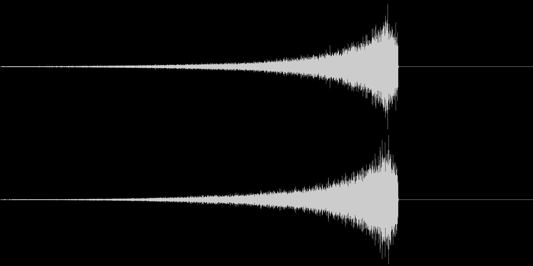 シンバルリバース音の未再生の波形