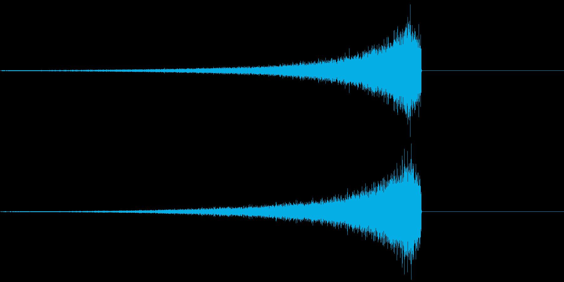 シンバルリバース音の再生済みの波形