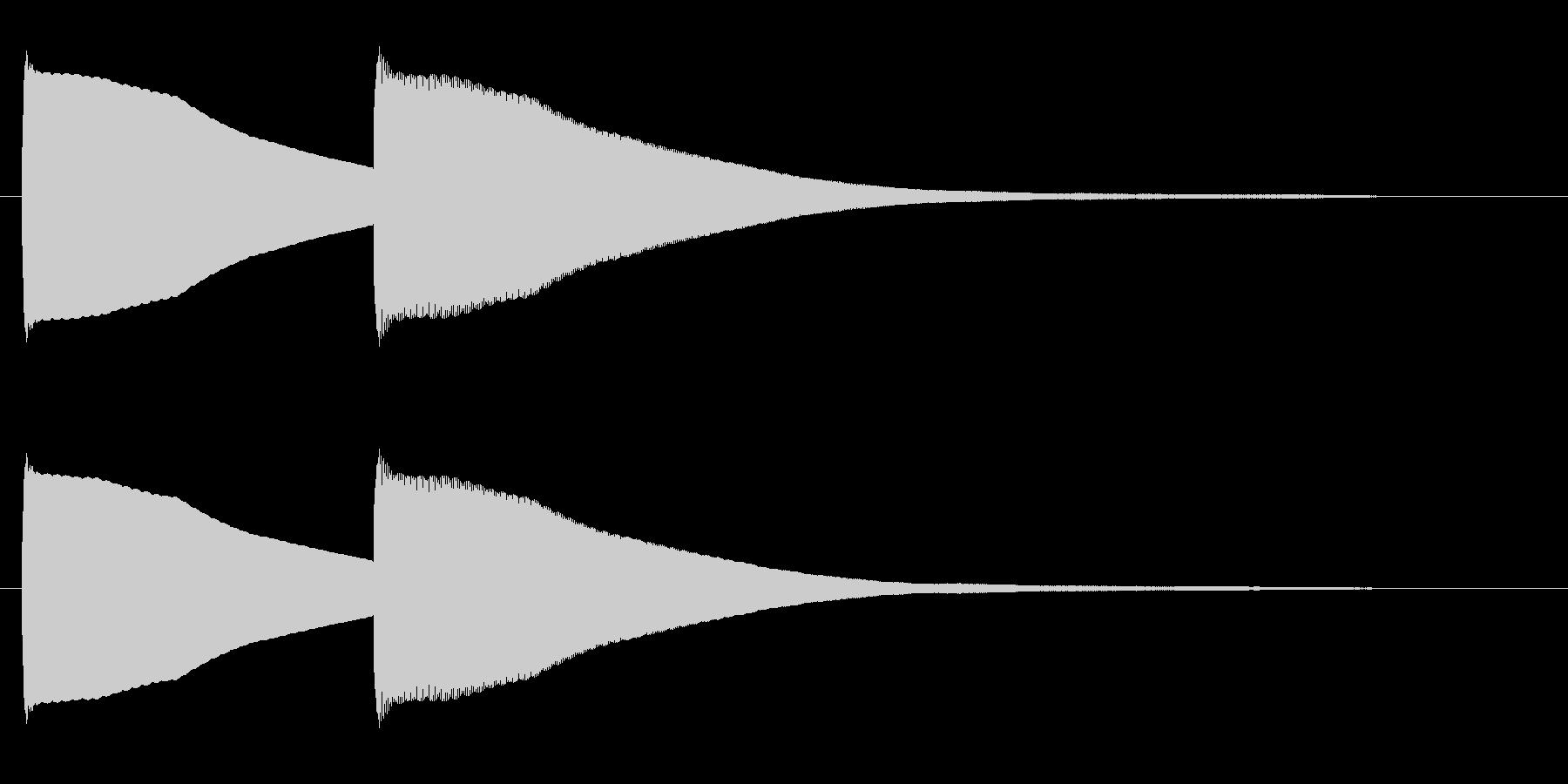 ピンポーン(可愛らしい正解音)の未再生の波形