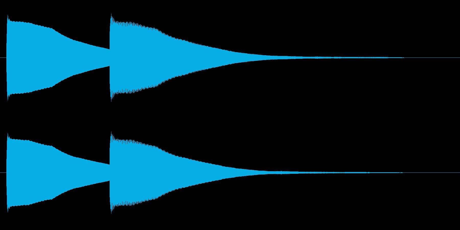 ピンポーン(可愛らしい正解音)の再生済みの波形