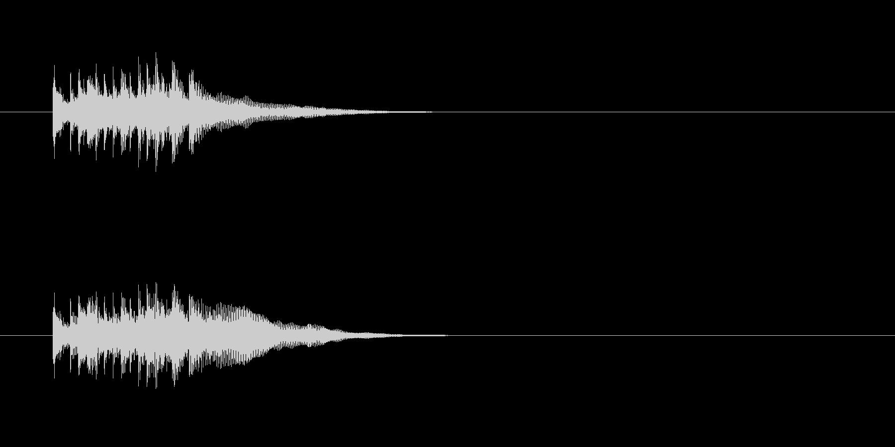 ジングル(キュー・アタック風)の未再生の波形