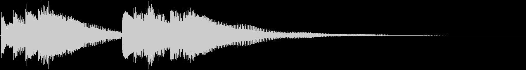 和風 箏(琴)下がっていく音2の未再生の波形