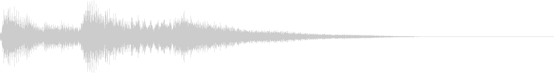 生演奏:やわらかい印象のピアノの未再生の波形