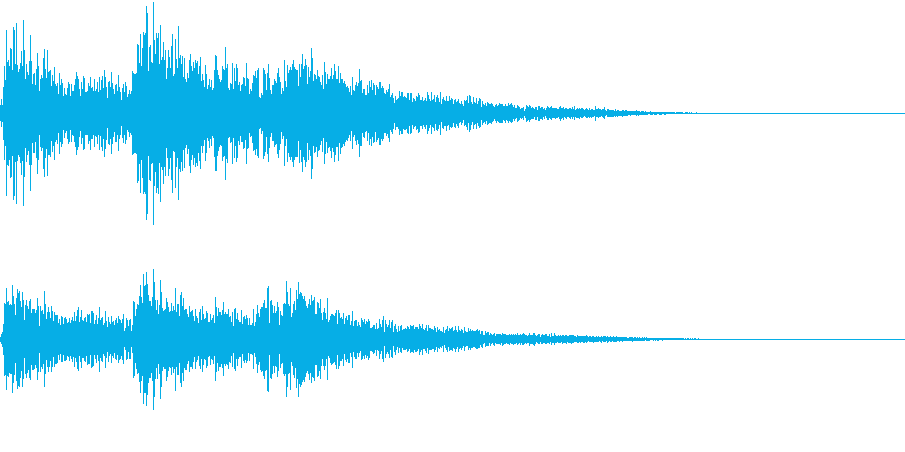 生演奏:やわらかい印象のピアノの再生済みの波形