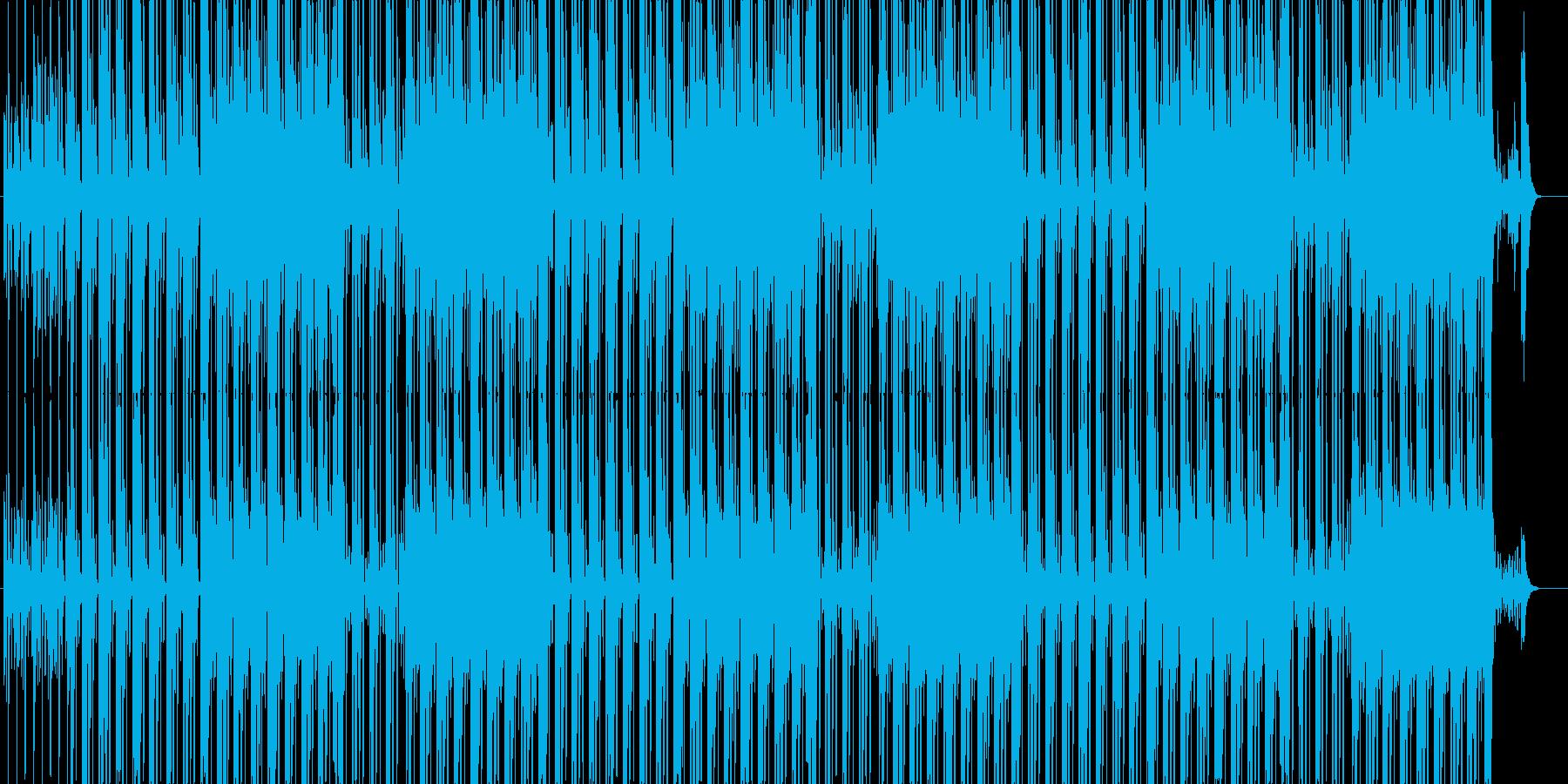 個性的なHIPHOPビートの再生済みの波形