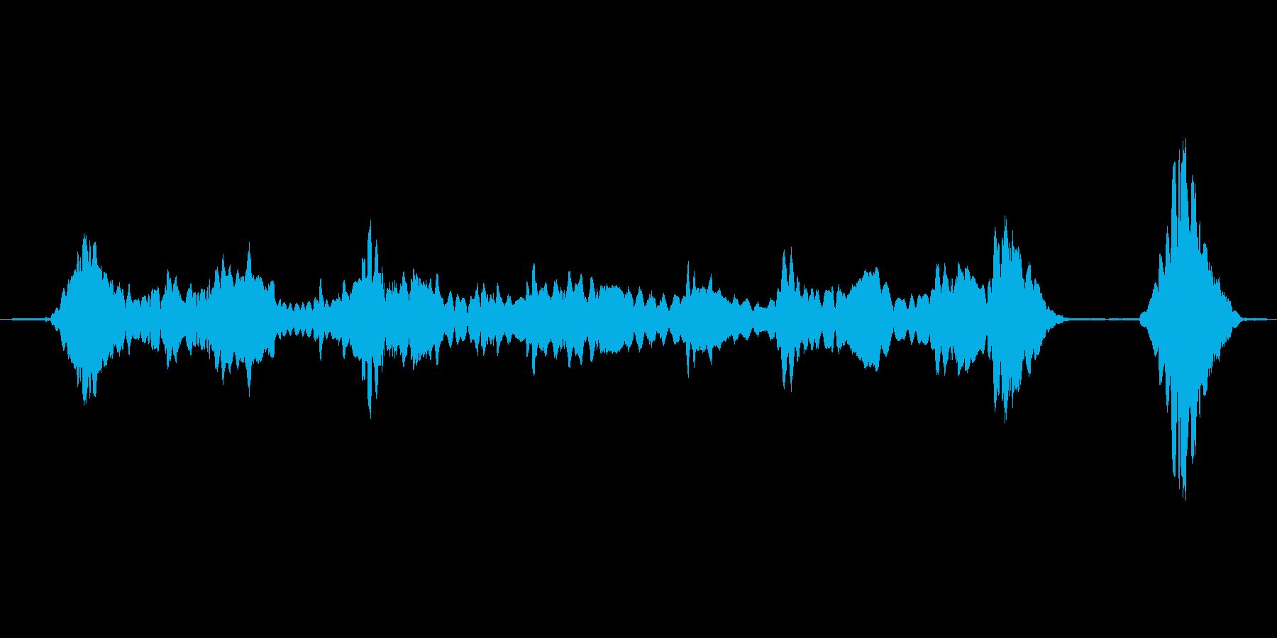 (おばけの歌声)の再生済みの波形