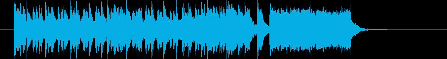 華やかで明るいトランペットジングルの再生済みの波形