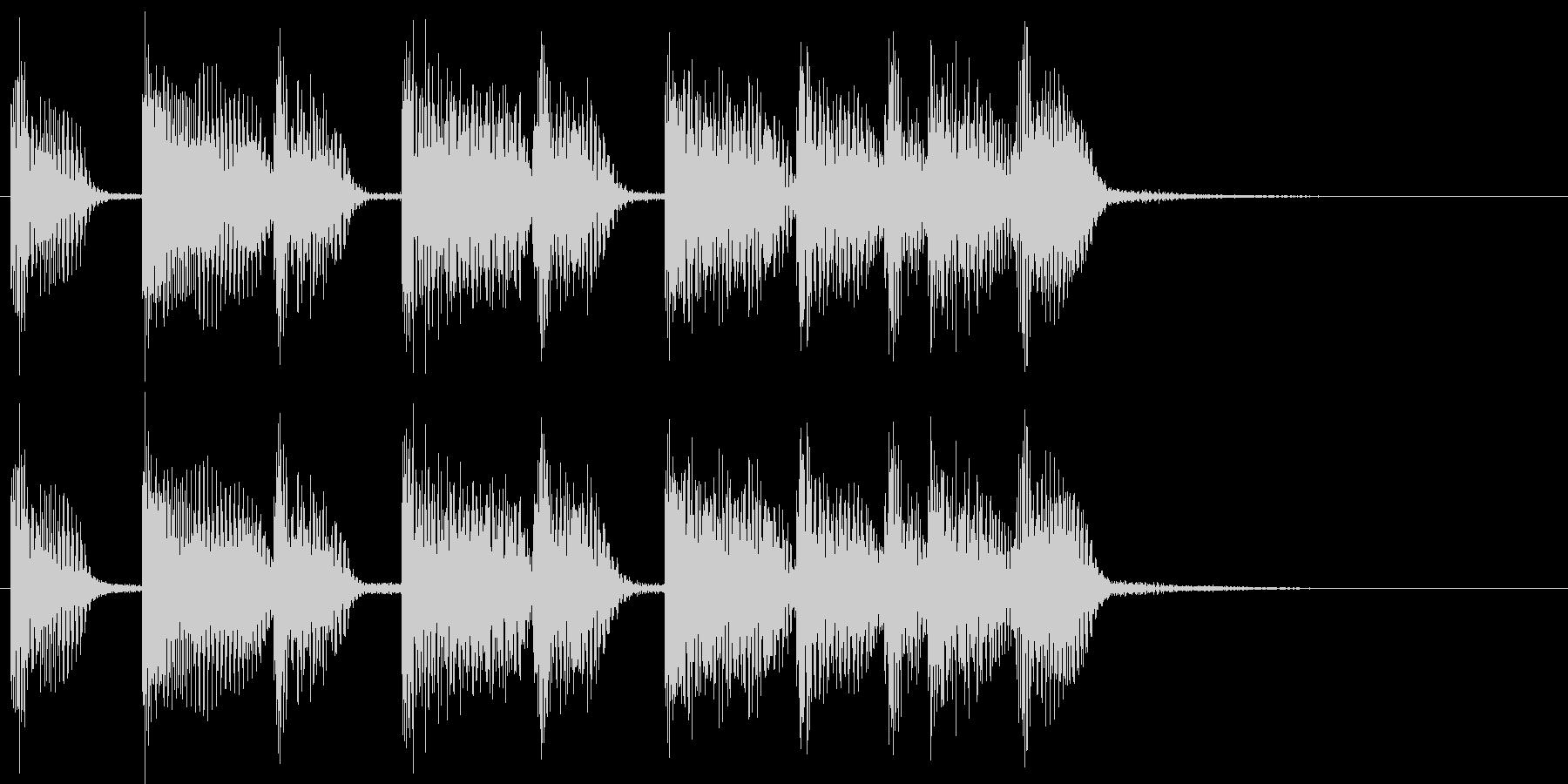 2小節ジングル08 シャッフルの未再生の波形