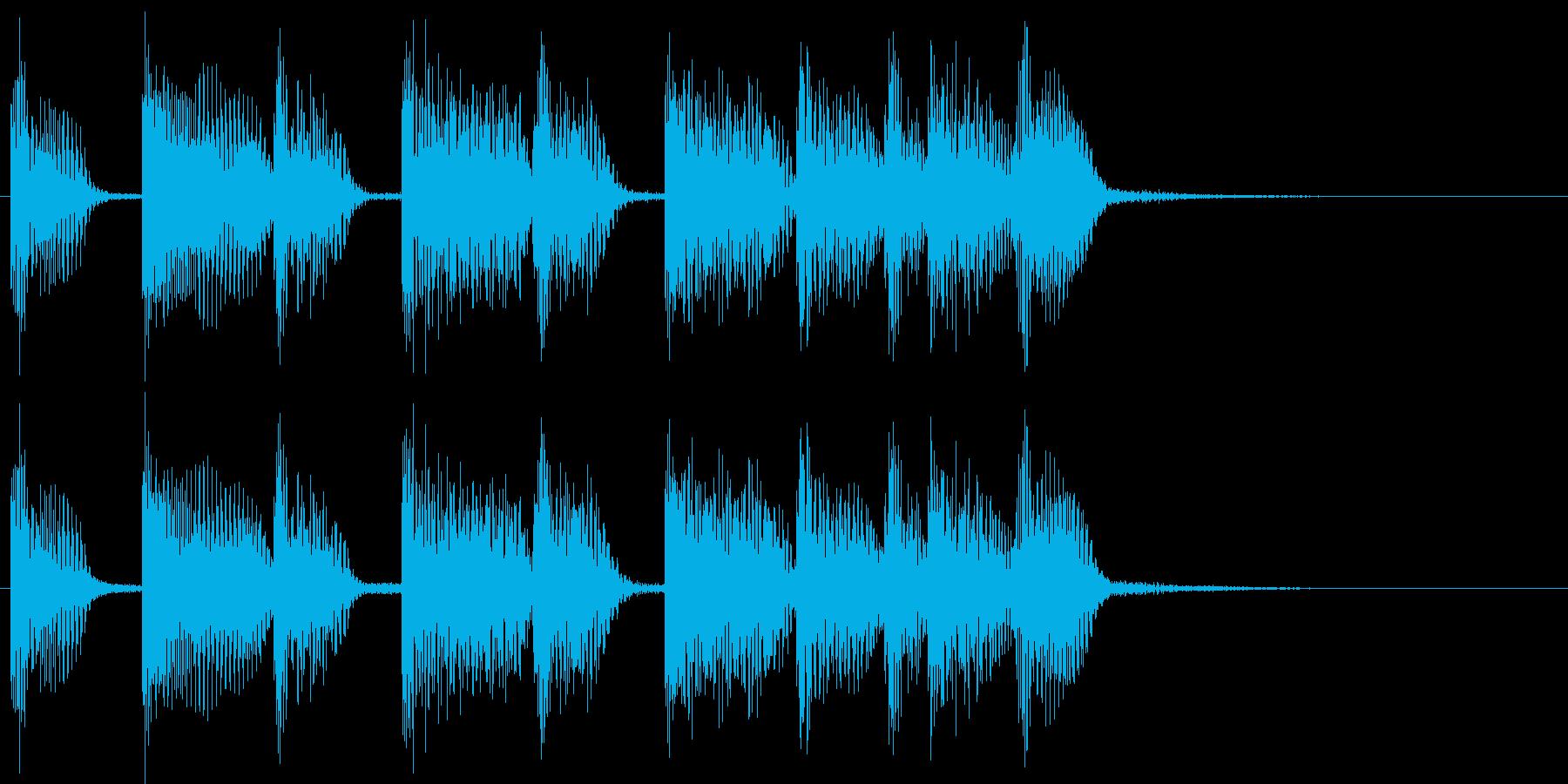 2小節ジングル08 シャッフルの再生済みの波形