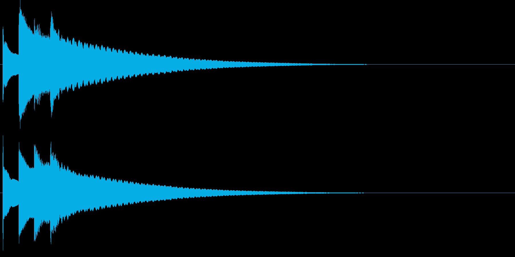 汎用15 ピンポンパンポーン(下降)の再生済みの波形