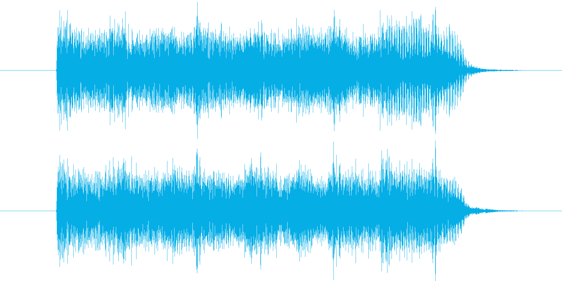 ニュース向けジングルの再生済みの波形