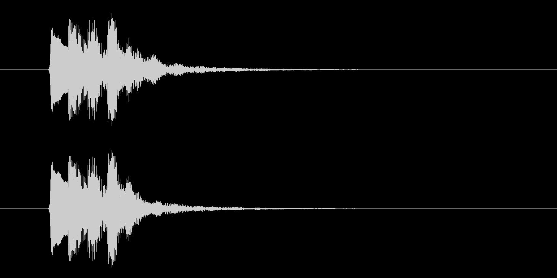 ファンファンファン(お知らせ、合図)の未再生の波形