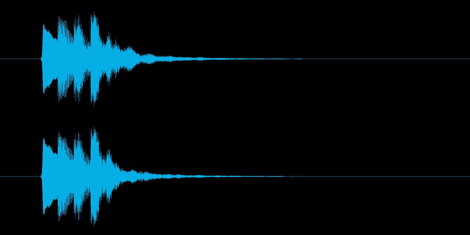 ファンファンファン(お知らせ、合図)の再生済みの波形