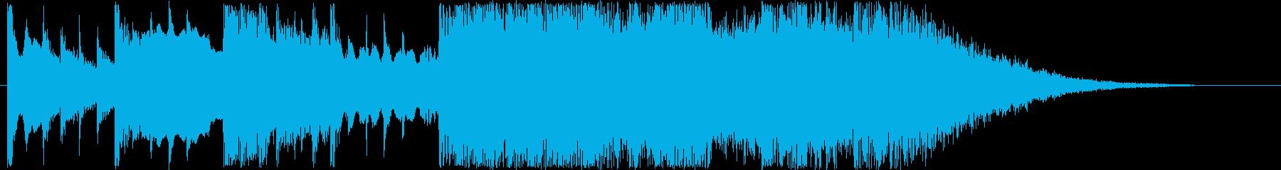 爽やかなシンセサウンド短めの再生済みの波形