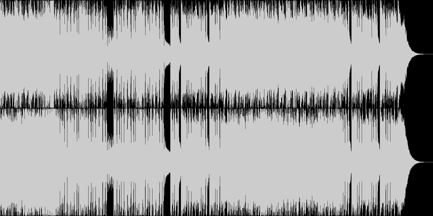 かっこいいゴリゴリなメタル曲の未再生の波形