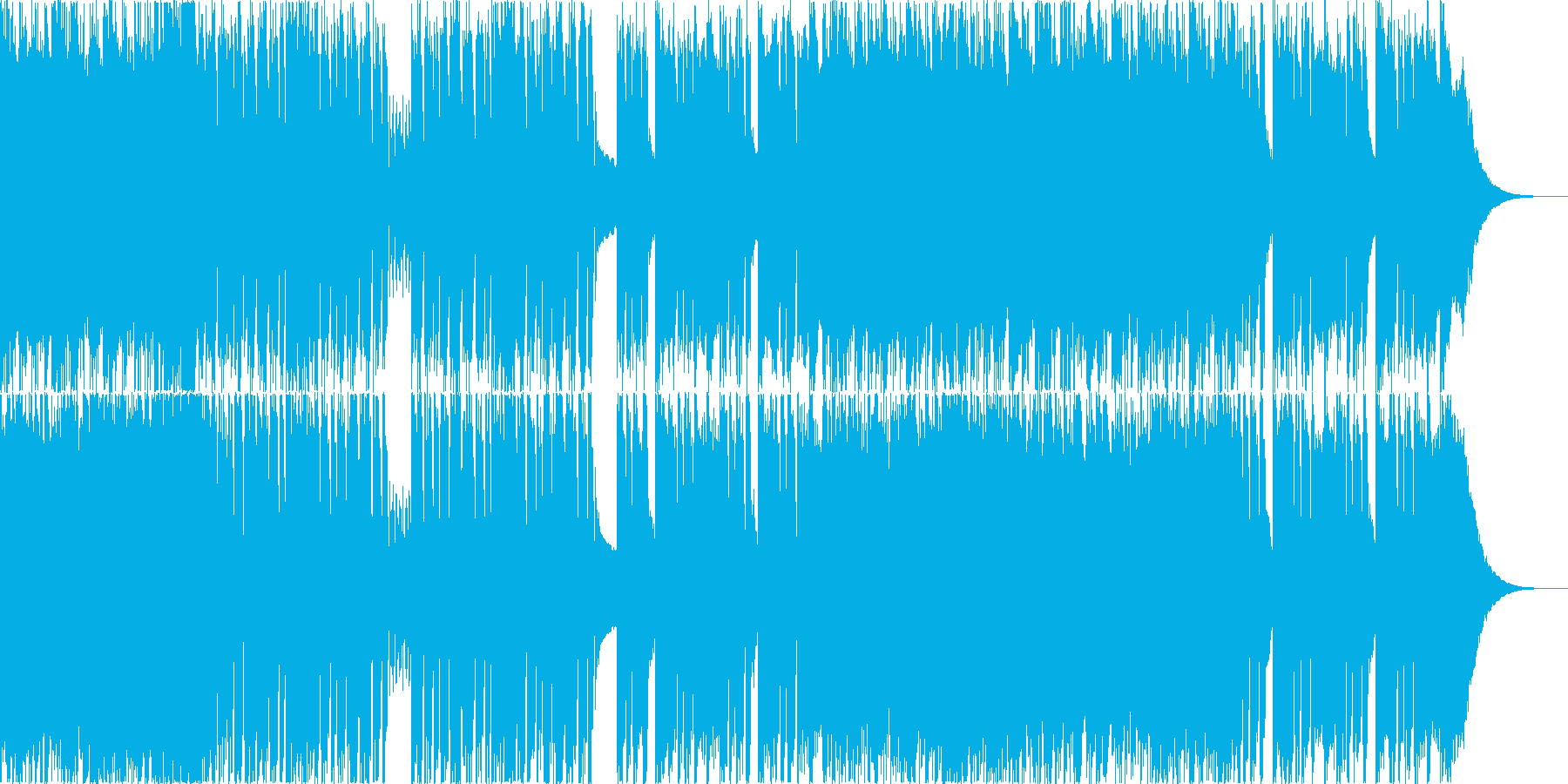 かっこいいゴリゴリなメタル曲の再生済みの波形