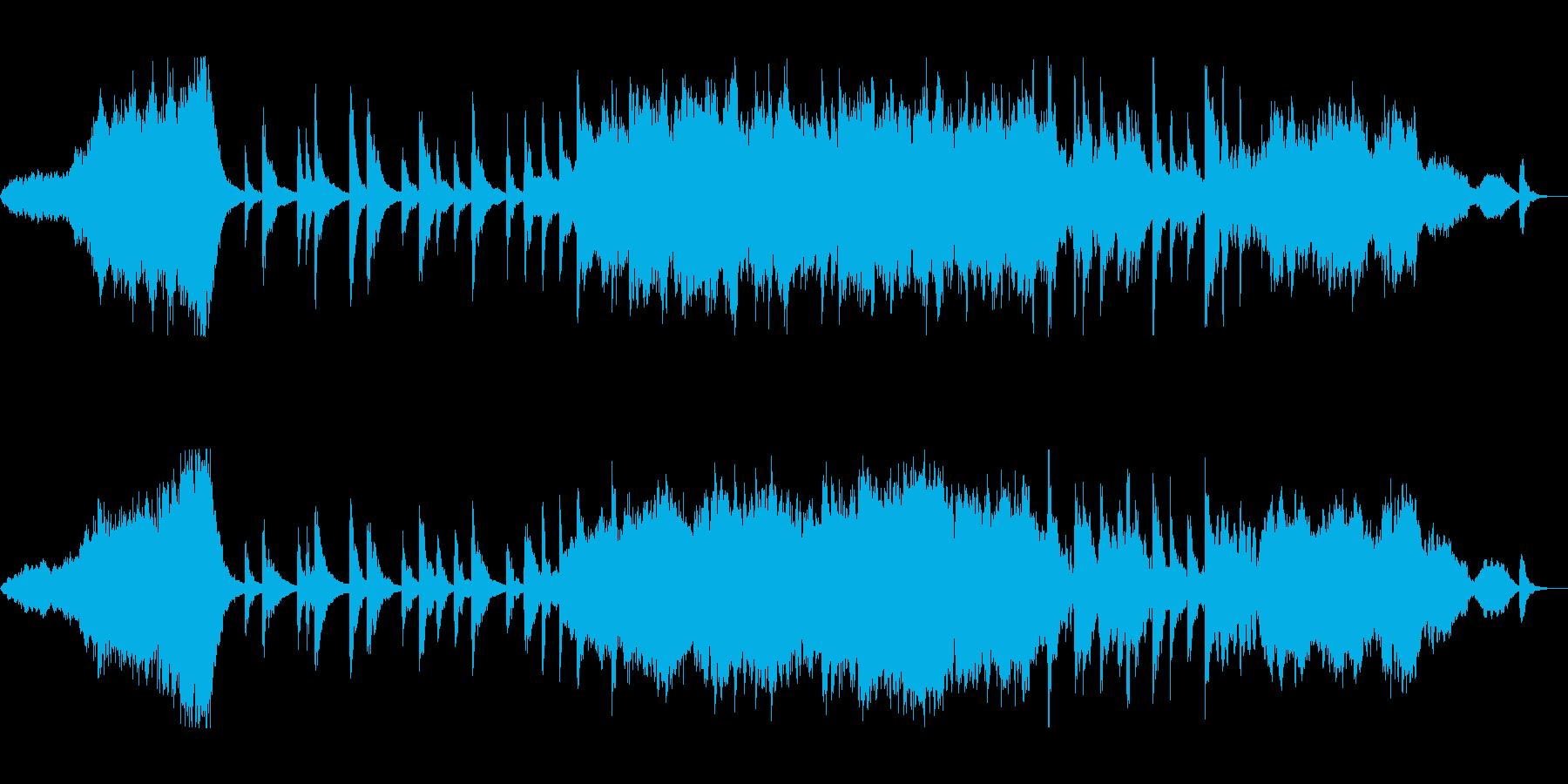 美しい日本の伝統音楽を思わせる曲の再生済みの波形