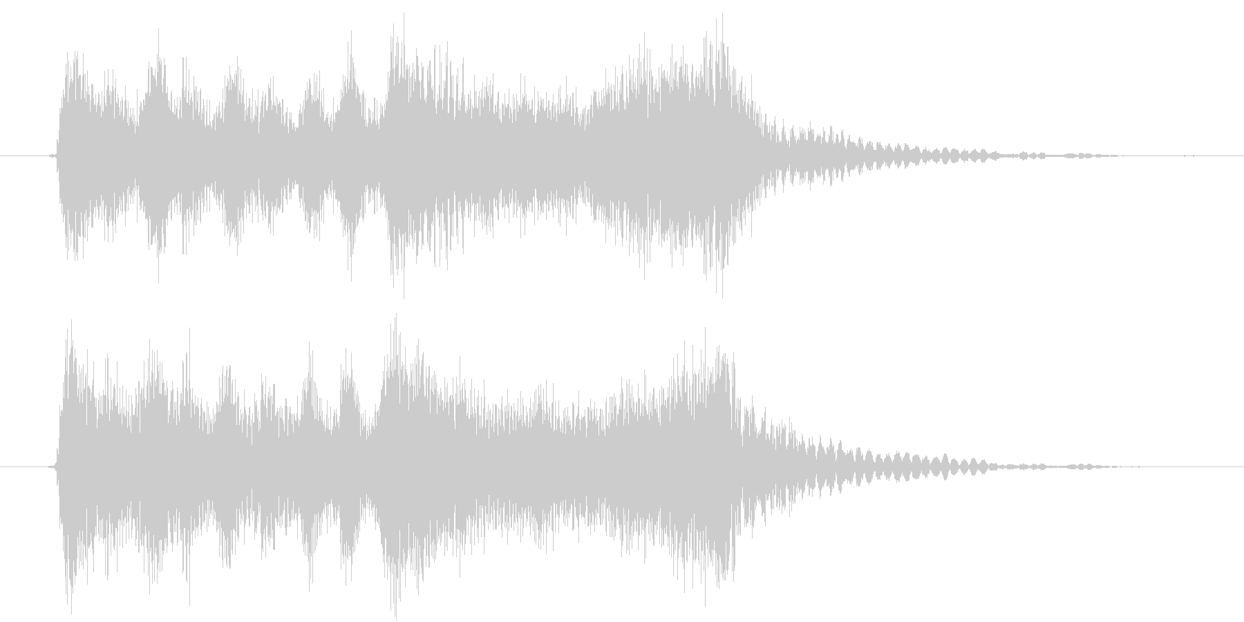 弦楽四重奏とSE、疾走感のあるジングルの未再生の波形