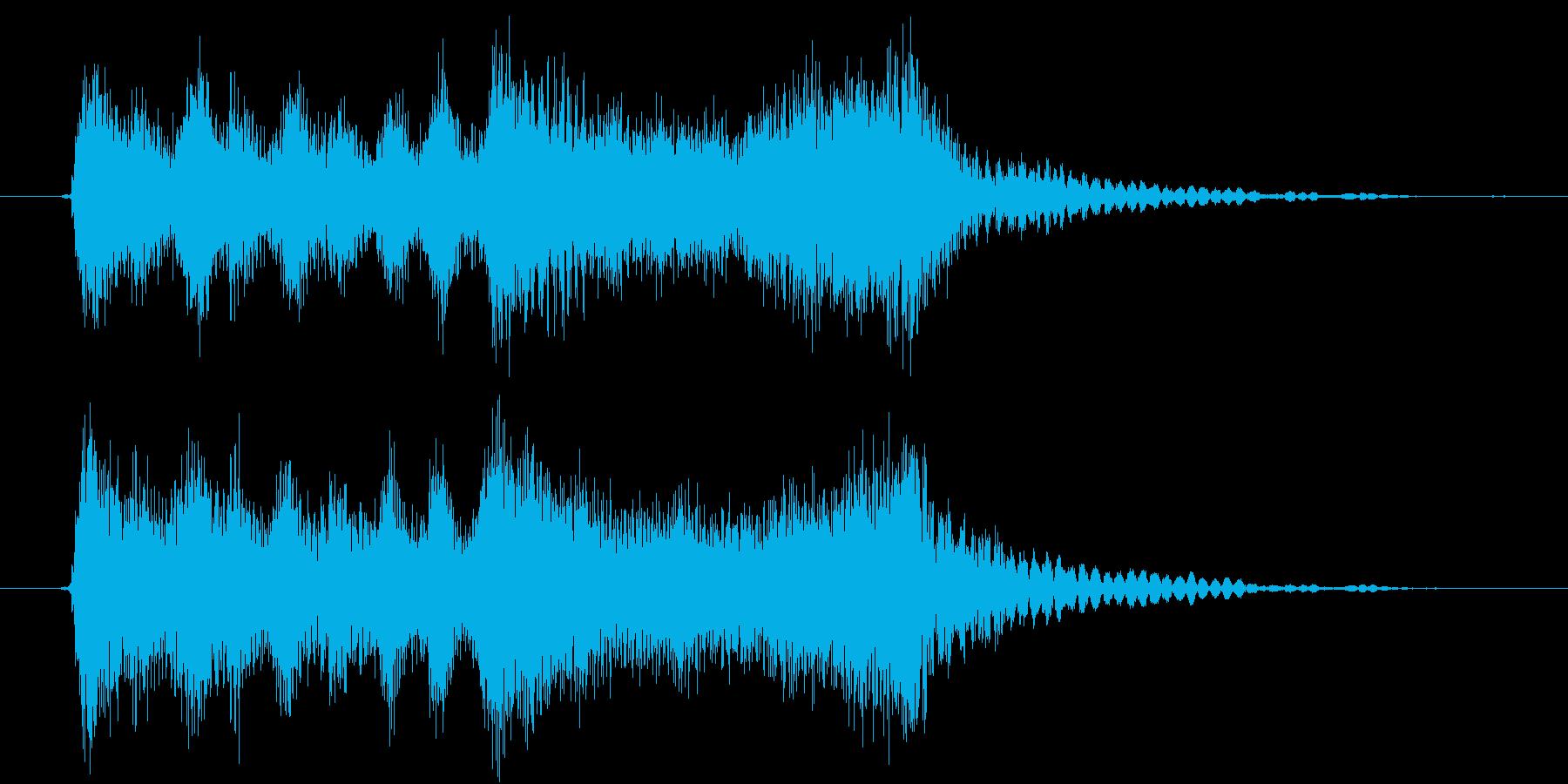 弦楽四重奏とSE、疾走感のあるジングルの再生済みの波形