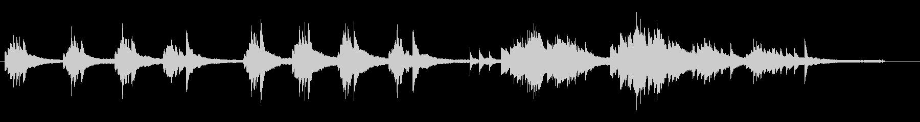 【ピアノ】静かで切ない、物悲しいピアノ曲の未再生の波形