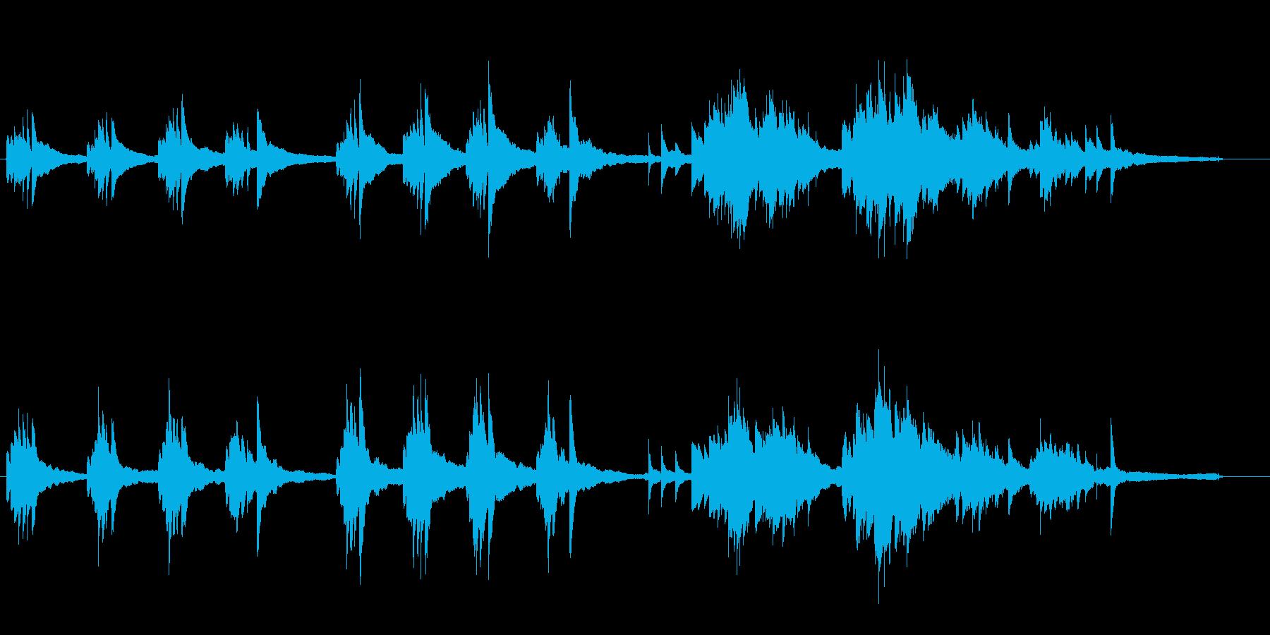 【ピアノ】静かで切ない、物悲しいピアノ曲の再生済みの波形