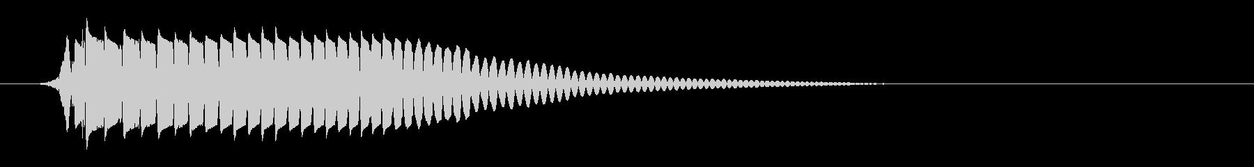 ポヨン(バウンドの音色)の未再生の波形