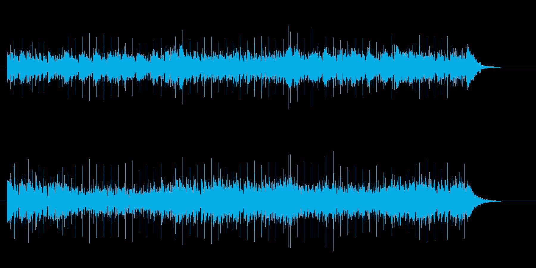 さわやかなメロディーのポップスの再生済みの波形