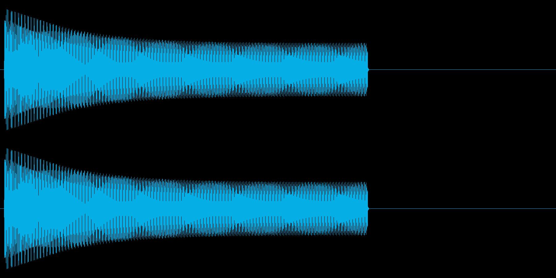 ブゥーーー(電子的)の再生済みの波形