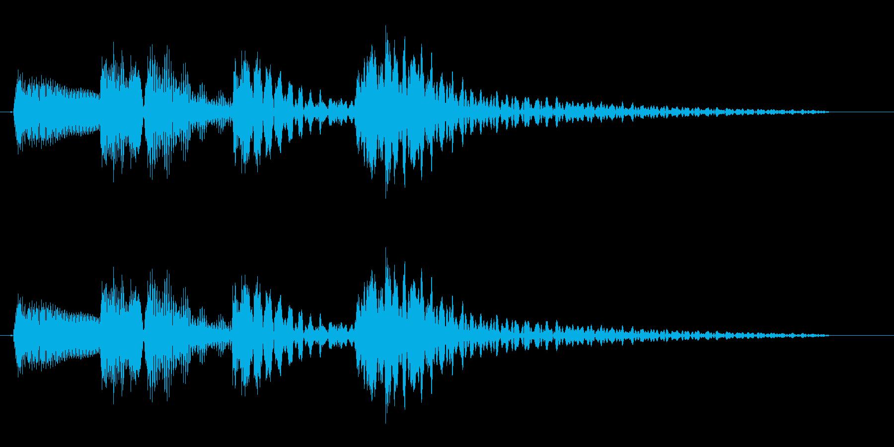 コロンクラン(コミカル)アップの再生済みの波形