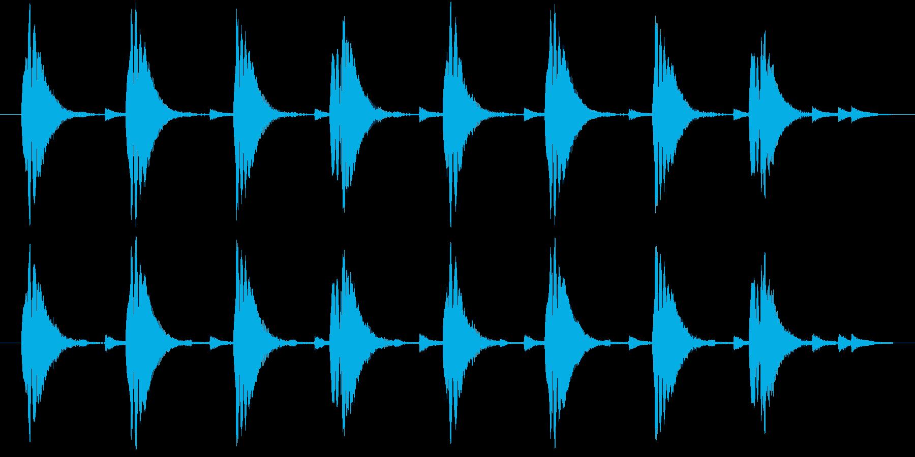 コミカルに何か近づいてくるようなジングルの再生済みの波形
